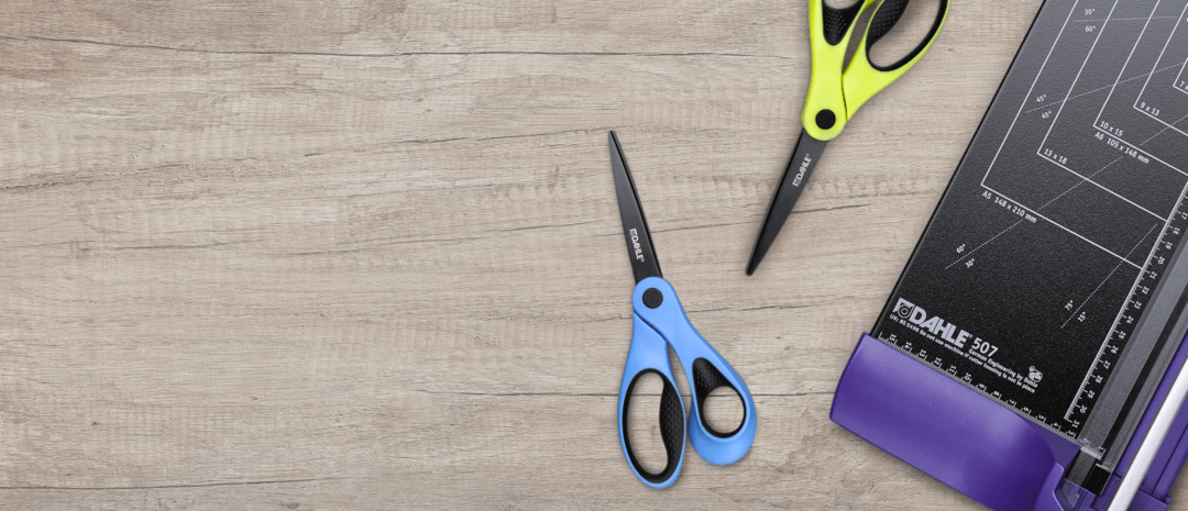 Scissors and trimmers in various colours