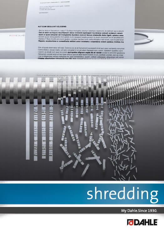 Dahle Office catalogue: Shredding