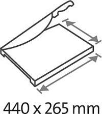 Table size (overall dimensions) 440 x 265 mm