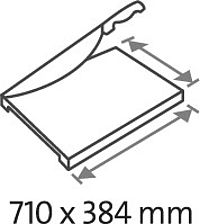 Table size (overall dimensions) 710 x 384 mm