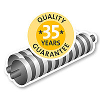 35-year guarantee on the cutters