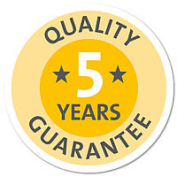 Extended 5-year guarantee (except wearing parts)