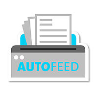 The 'autofeed' function ensures automatic feed of complete stacks of paper (80 gsm)